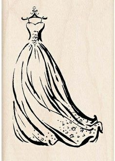 1000 images about dress stamps on pinterest stamps for Wedding dress rubber stamp