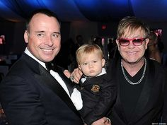 Elton John David Furnish  In April, Sir Elton John and David Furnish announced they are considering fathering a sibling for their toddler son Zachary. Zachary Jackson Levon Furnish-John was born in California on Christmas Day 2010.