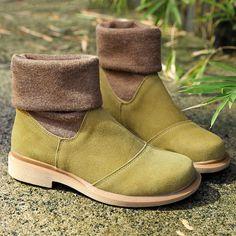 7bca9340628a3f Women Winter Fashionable Cotton Yellow Green Boots Shoes