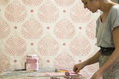 Galbraith and Paul pink lotus wallpaper