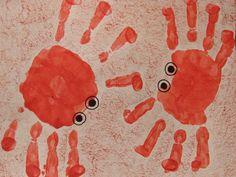 Crab handprints! handprint-crafts