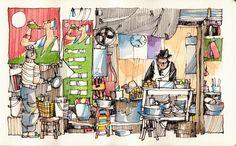 JR Sketches: Vietnam Jan-2014