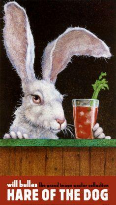 ANIMAL ART PRINT Snow Bunny Will Bullas