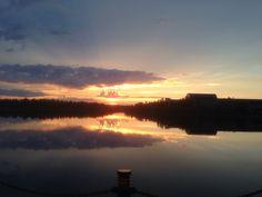 Sunset at Somba Ke Park, Yellowknife, NT, Canada