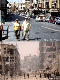 A Syrian Restaurant is Posting Before and After Photos of Aleppo and It's Heartbreaking.