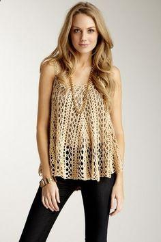 Mystree Crochet Cami Sweater - so cute with shorts