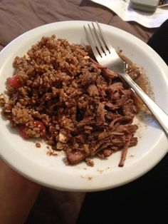 Weight Watchers Slow cook beef ribs and bulgar salad