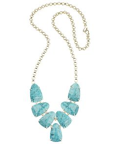 Harlie Statement Necklace in Turquoise