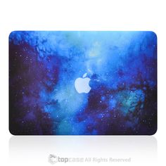 """Blue Galaxy Graphic Rubberized Hard Case for MacBook Pro 13"""" with Retina Display Model A1425 / A1502"""