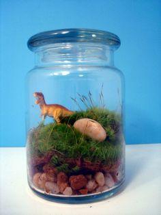 dinosaur moss terrarium! by gretchen