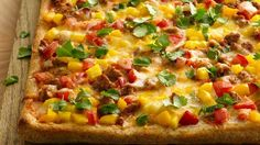 Taco Pizza on Artisian crust new from Pillsbury... that little Dough Boy is always cooking up something yummy!