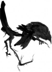 raven. Would be an easy DIY watercolor