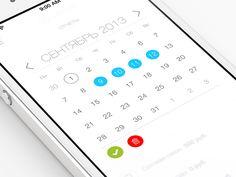 20 Eye-Catching Mobile Calendar Designs For Your Inspiration - Hongkiat Calender App, Calendar Layout, Kids Calendar, Calendar Design, Mobile Ui Design, App Ui Design, Web Design, Design Bauhaus, Timer App