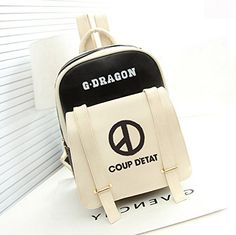 Kpop Super Star Bigbang G-dragon Backpack Fanmade PU Scho...