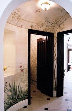 Painted ceiling & wall mural ~ Oficina de Pintura Blog» Arquivo do Blog » Inspiração :: Maria Trimbell