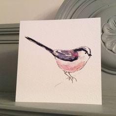 Long Tailed Tit Garden Bird Greetings Card