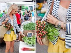 cute outfit, and at the farmers market!
