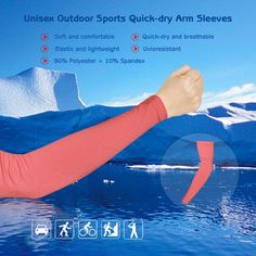 Unisex Outdoor Sports Quick-dry Breathable Arm Sleeves Sun-resistant Arm Protective Sleeves for Bicycle Cycling & Running
