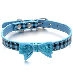 Nugoo Classic Plaid Bow Pet Dog Cat Collar Necklace,Adjustable 10'-13' Inch,Medium -- Read more reviews of the product by visiting the link on the image.