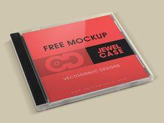 Free CD Jewel Case Mockup   Vectogravic