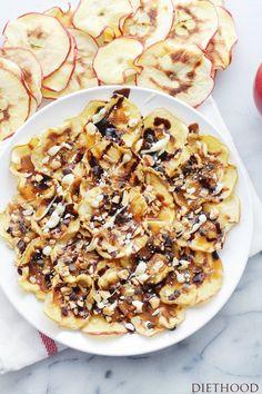 Caramel Apple-chips Nachos Recipe.