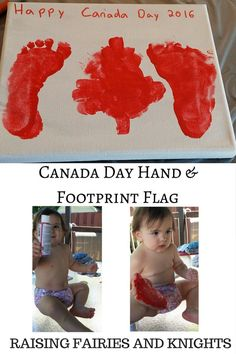 Canada Day Hand & Footprint Flag - As we prepare to celebrate Canada Day try making this fun maple leaf hand and footprint craft with your kids to make the Canada Flag. Infant Activities, Craft Activities, Preschool Crafts, Daycare Crafts, Daycare Ideas, Preschool Activities, Toddler Fun, Toddler Crafts, Crafts For Kids