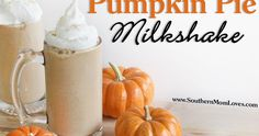 'Tis the season for everything pumpkin! I have been making pumpkin treats galore this season, and I got this idea for a Pumpkin Pie Milksha...