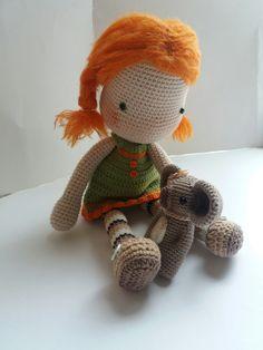 Amigurumi Mohair cotton crochet doll Girls Gift for girls