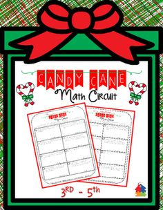 This NO PREP Christmas handout keeps students engaged by providing a fun, self-evaluating, math circuit! This set includes 8 multi-step word problems with a mixed review. Answer key is included. Check out the preview for a more detailed view.Skills include: money, logic / problem solving, time, measurement, and basic operations.Various Uses:Whole groupMath CenterHomeworkYou may also enjoy: Christmas Activity Pack [Save over 30%] Christmas Tree Math Craftivity Shapes with Santa FREE (3rd…