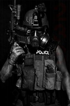 Futuristic Warrior Art | future soldier, cyberpunk, future police, mask, armor, gun,