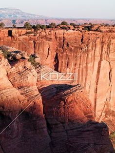 high angle view of cliff. - High angle view of sandstone cliff.