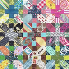 Japanese + and X Quilt