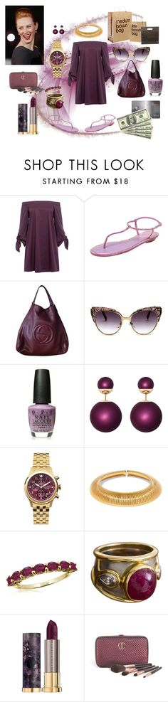 """Shopping Day"" by littlerin26 on Polyvore featuring Grace, TIBI, René Caovilla, Jack Mason, Yves Saint Laurent, Jewelonfire, Boris Lebeau, Urban Decay and Charlotte Tilbury"