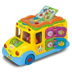 Interactive Yellow School Bus Musical Activity Toy Vehicle with Lights, Sounds & Music for Toddlers - Baby Toys Toddler Toys, Baby Toys, Kids Toys, Baby Learning, Learning Toys, Music For Toddlers, Children Music, Wheels On The Bus, Musical Toys
