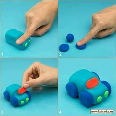 Making animals out of play dough with kids - instructions-dekoking-com- Tiere aus Knete mit Kinder basteln – Anleitung-dekoking-com Making animals out of play dough with kids – instructions-dekoking-com - Clay Crafts For Kids, Kids Clay, Cake Topper Tutorial, Fondant Tutorial, Fondant Cake Toppers, Fondant Cakes, Fondant Figures, Decoration Patisserie, Fondant Animals