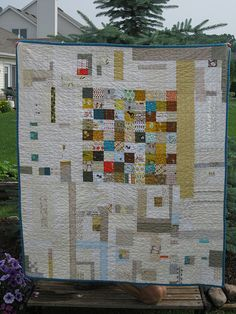 One lucky baby! Unlikely Baby Quilt by Jenny, an original design featured on her blog.