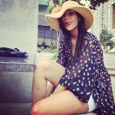 Our fun Sunday Shoot  #ommel #photoshoot #model #kimono #shorts #hat