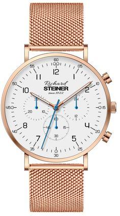 Richard Steiner Generation One Watch Brands, Gold Watch, Gentleman, Accessories, Designer Clocks, Pointers, Leather Cord, Branding, Brand Name Watches