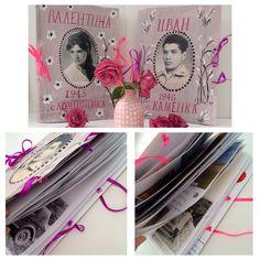 Идея для подарка, сделать самостоятельно книгу с фотографиями и  со стихами для родителей