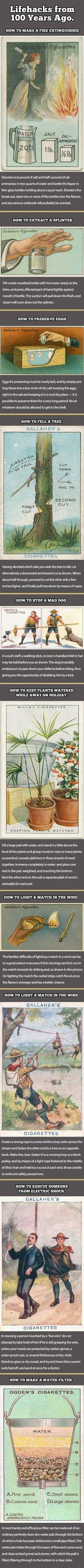 "1910s, Gallaher Ltd of Belfast & London and Ogden's Branch of the Imperial Tobacco Co printed ""How-To"" series, with clever hints for both everyday and emergency situations. From steaming out a splinter to stopping a mad dog, these cigarette cards told you the smart way to handle many of life's problems."