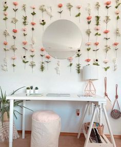 Customizable Hanging Fake Flower Wall for Backdrops and Room Decor Cute Room Ideas, Cute Room Decor, Teen Room Decor, Room Ideas Bedroom, Bedroom Wall, Flower Room Decor, Fake Flowers Decor, Pastel Room Decor, Bed Wall