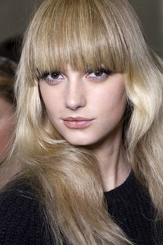 would love to try these heavy full blunt bangs w/ my long hair (it's growing out quickly!)