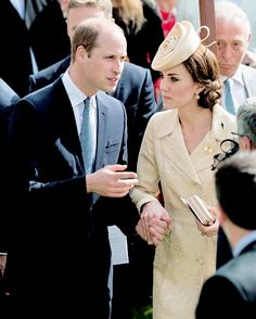 The Duke and Duchess of Cambridge attending the Secretary of State for Northern Ireland's Garden Party at Hillsborough Castle on June 14th, 2016.
