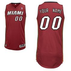 Adidas Miami Heat Custom Authentic Alternate Jersey