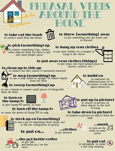 Phrasal Verbs around the House Welcome! Say hello to the world. RECENT GUEST POSTS Prepositions of Time .Read More Animal Idioms in English .Read More Fun and different ways to wish people 'happy birthday' in English Fun and English Course, English Fun, English Tips, English Writing, English Study, English Lessons, Learn English, English Verbs, English Phrases