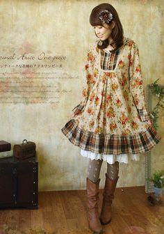 Hanami Hood Klänning - Talkingclothes, Kawaii, Japansk Lolita, Smycken mm.