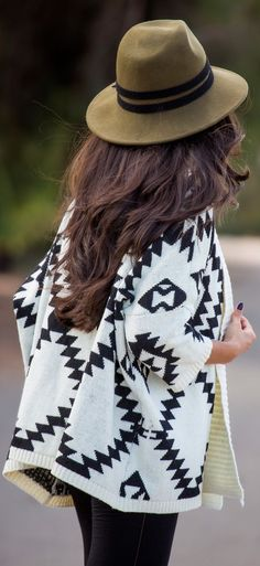 01bced990d6e8 How To Master the Classic Aztec Cardigan Fall Outfit