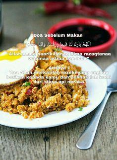 Doa makan.. semoga allah berkati rezeki yg kita perolehi