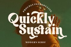 Wow picks! Quickly Sustain Is A Modern Serif Font Which A Chic And Feminine Style Script Font at €5.10 Choose your wows. 🐕 #Handlettering #Handdrawn #Classy #Casual #Serif #Modern #Handwritten #Condensed #Branding #Handwritting Modern Serif Fonts, Professional Fonts, Vintage Fonts, Wedding Logos, Picture Logo, Free Fonts Download, Graphic Design Branding, Cool Fonts, Sustainability