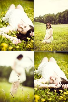 More from the Field of Dreams Maternity shoot on On To Baby. I like the top left shot the best, I have tried to create this pose but was unsuccessful. This was EXACTLY what I was going for. The bottom right also riffs it but it appears the focus is on the belly, equally good. I also like the top right photo. Timeless.